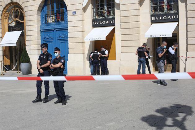 La bijouterie Bulgari située sur la place Vendôme à Paris a été braquée...