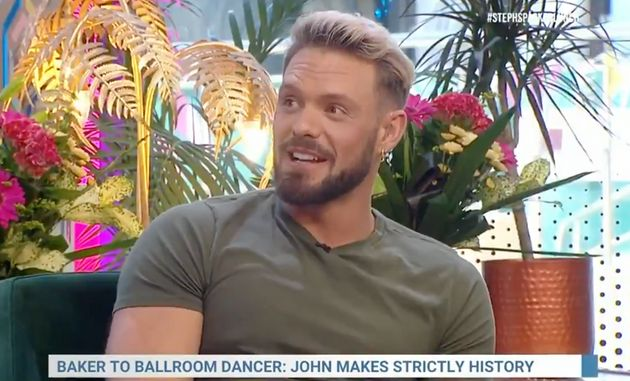 John Whaite speaking to Steph McGovern ahead of his Strictly