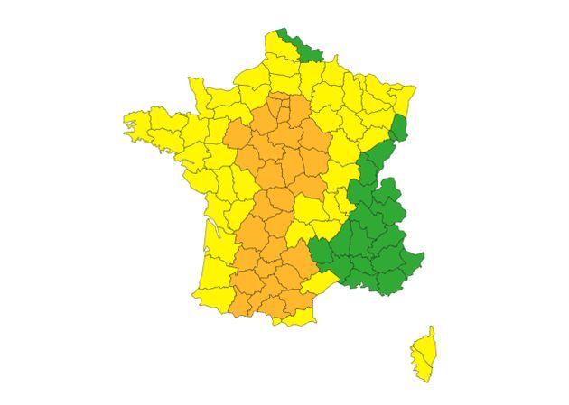 32 départements sont placés en alerte orage mercredi 8