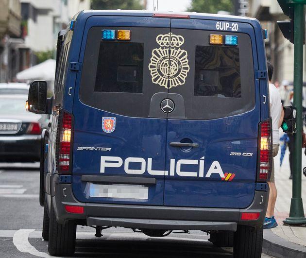 Un furgón de la Policía Nacional, en una foto de