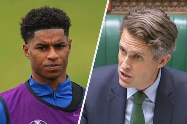 Gavin Williamson got Marcus Rashford muddled up with another sports