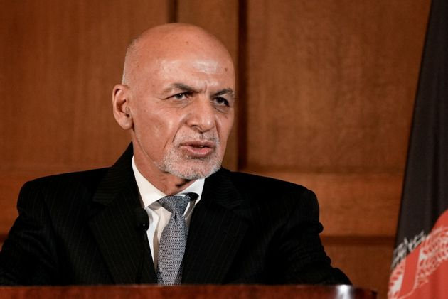 Afghanistan's President Ashraf Ghani speaks during a news conference following his meeting with U.S....