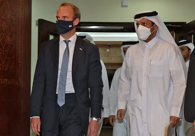 Foreign secretary Dominic Raab in Qatar to discuss the Afghanistan crisis and how to deal with the