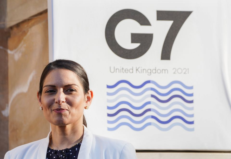 Priti Patel has been in disagreement with her French counterpart over the migrant