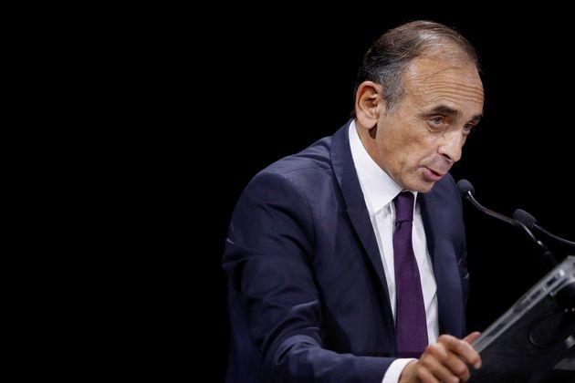 Eric Zemmour devant la Convention de la Droite à Paris, le 28 septembre