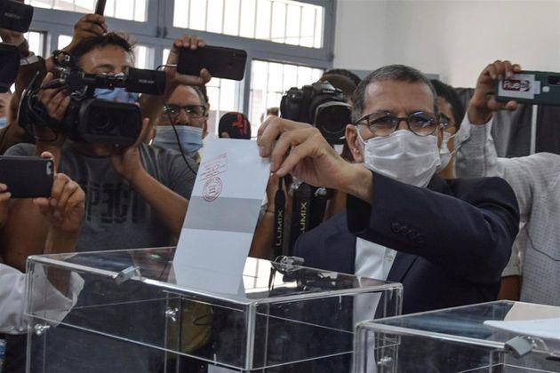 El presidente de Marruecos y candidato del islamista Partido de la Justicia y el Desarrollo, Saadedín...