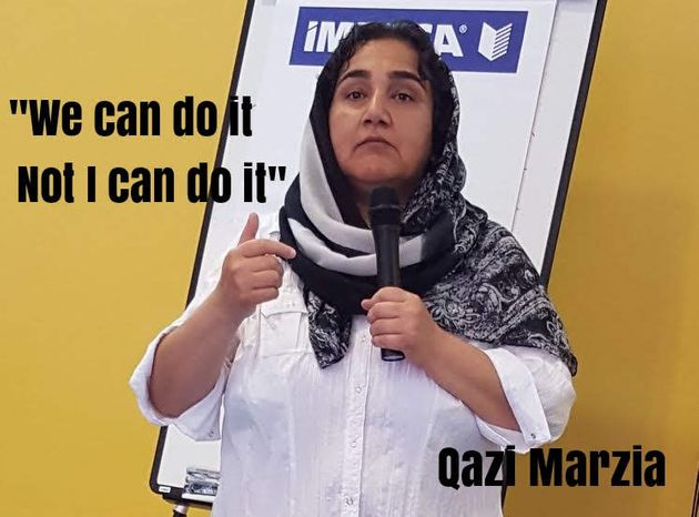 Marzia Babakarkhail now works as a caseworker for an MP in the