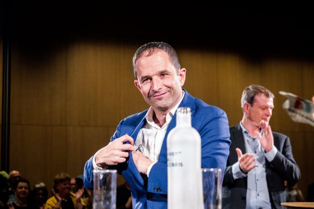 Benoît Hamon photographié lors des élections européennes de 2019