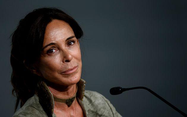 Lydia Bosch en una rueda de prensa en el Festival de Sitges en