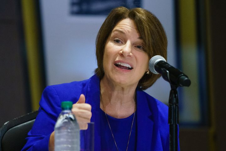 Sen. Amy Klobuchar (D-MN) seen in July announced Thursday that she underwent treatment for breast cancer.