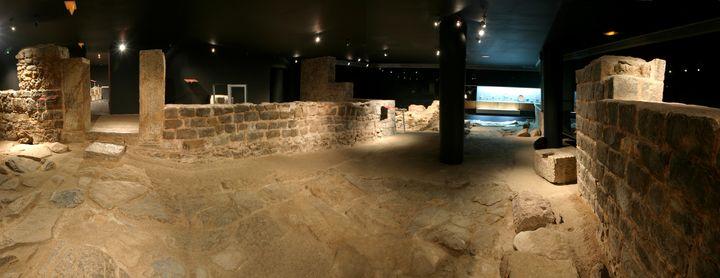 Restos arqueológicos de la Casa de la Fortuna en Cartagena (Murcia).