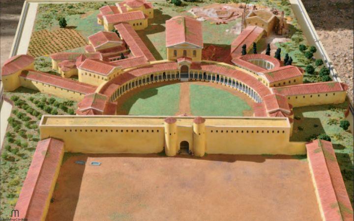 Recreación de la Junta de Andalucía del Palacio de Maximiliano Hercúleo.
