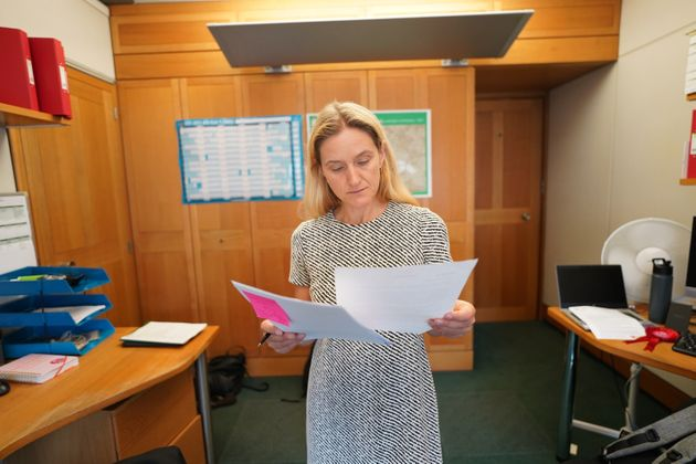 Kim Leadbeater prepares her maiden speech before a debate on the legacy of her sister, the late Jo