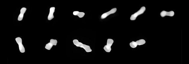 L'astéroïde Cléopâtre vu sous différents