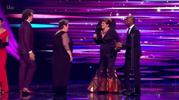 Jenny Ryan and the Chasers celebrating Beat The Chasers' NTAs