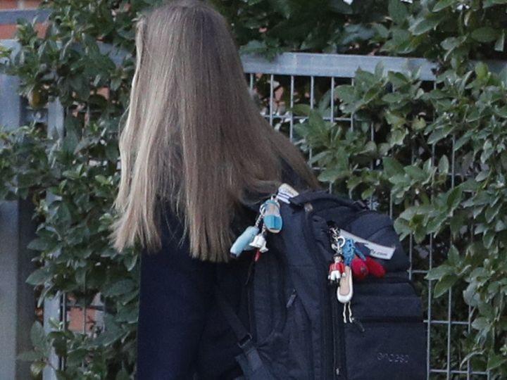 Detalle de la mochila de la infanta.