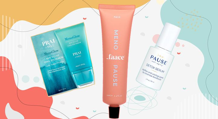 M&S X Pria MenoGlow, Menopause Faace and Pause Well Aging.