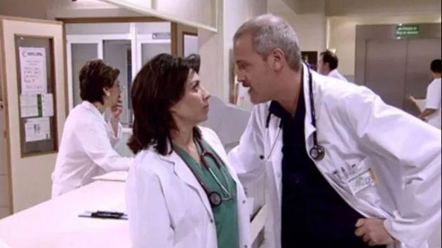 Una escena de 'Hospital Central' con Alicia Borrachero y Jordi