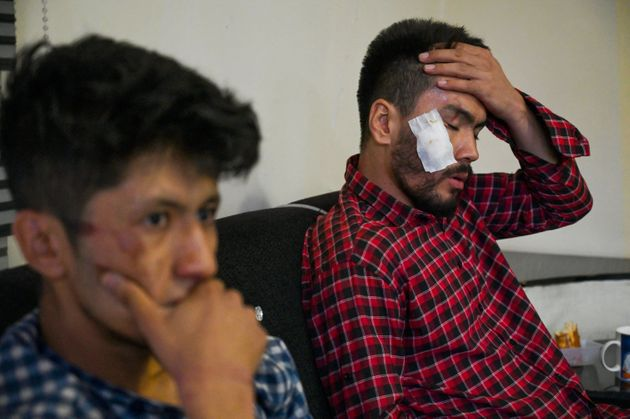 The two journalists were beaten for trying to cover the women's protest in