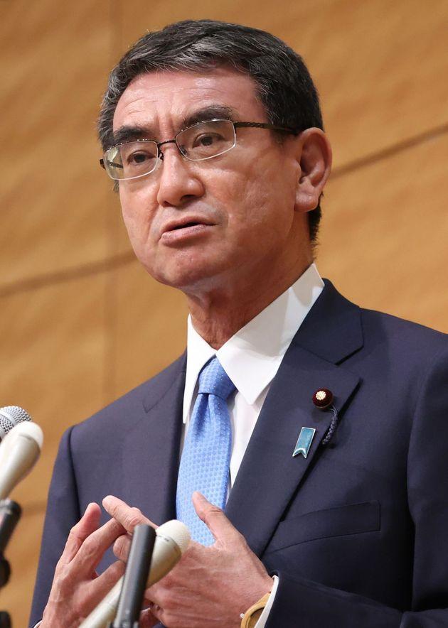 自民党総裁選への立候補を表明する河野太郎氏