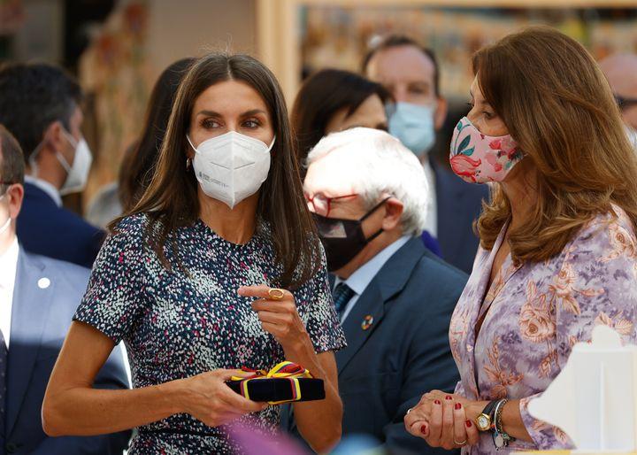 La reina y la vicepresidenta colombiana