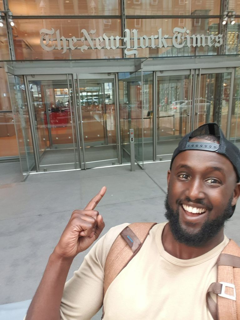 Mohamed on a trip to New York, one of the many visits he's made to the