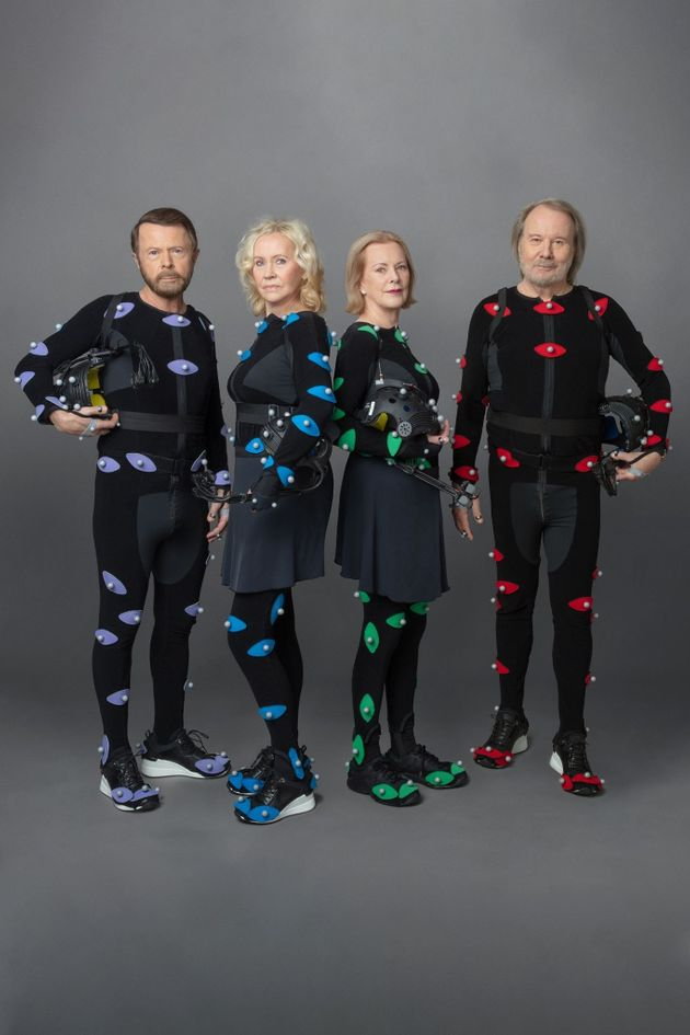 ABBA pictured during the creation process for their concert experience