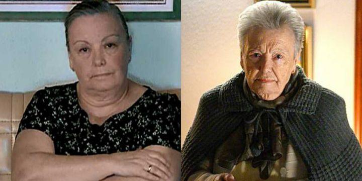 Herminia López en el primer capítulo de 'Cuéntame' y en la 21ª temporada.