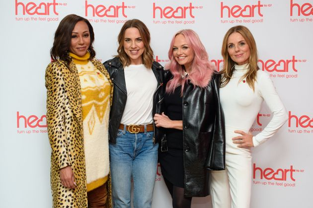 Spice Girls (left to right) Melanie Brown, Melanie Chisholm, Emma Bunton and Geri Horner at a live appearance...