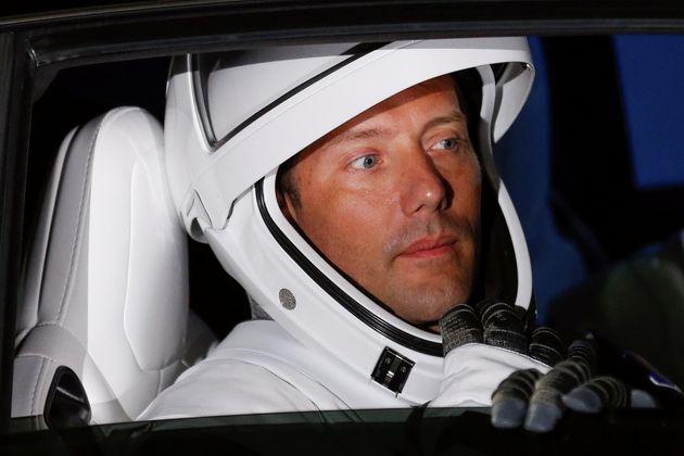 Thomas Pesquet, peu avant d'embarquer pour rejoindre l'ISS, le 23 avril
