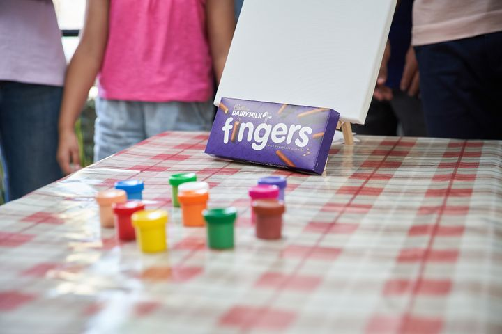 Finger Painting Fun with Cadbury Dairy Milk Fingers
