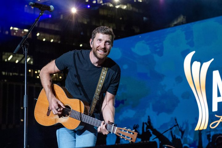 FILE - In this Tuesday, August 24, 2021, file photo, Brett Eldredge performs at the 2021 ACM Party for a Cause at Ascend Amph