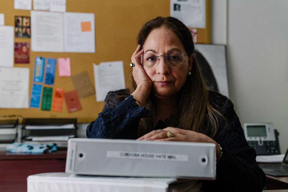 Daisy Khan at her office in Morningside Heights.