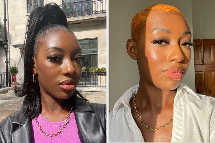 Before and after the crop: Habiba Katsha
