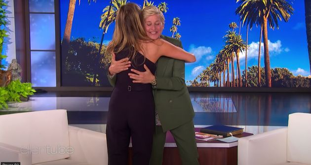 Jennifer Aniston and Ellen