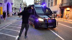 Cargas policiales en Barcelona tras la manifestación por la
