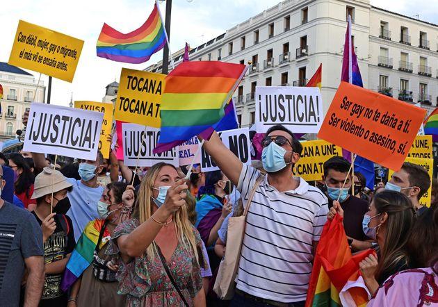Manifestación en Madrid contra los ataques