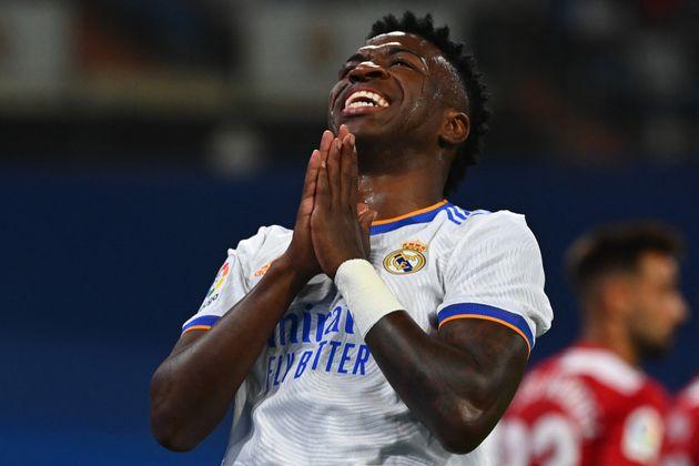 Vinicius durante el partido del Real Madrid contra el Celta de