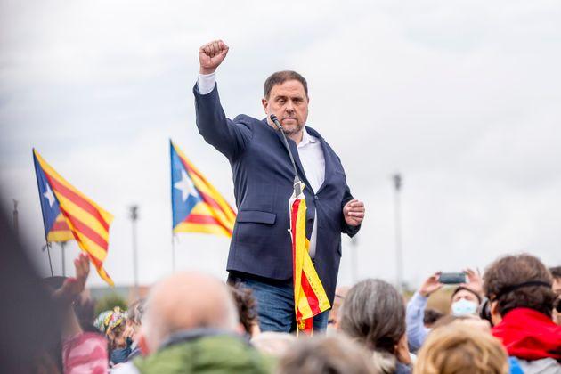 El presidente de ERC, Oriol Junqueras, en