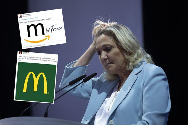 Marine Le Pen photographiée à Fréjus lors de son meeting de rentrée dimanche 12