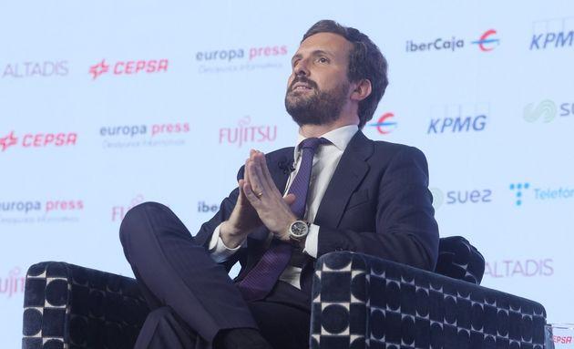 El presidente del Partido Popular, Pablo Casado, en una imagen de