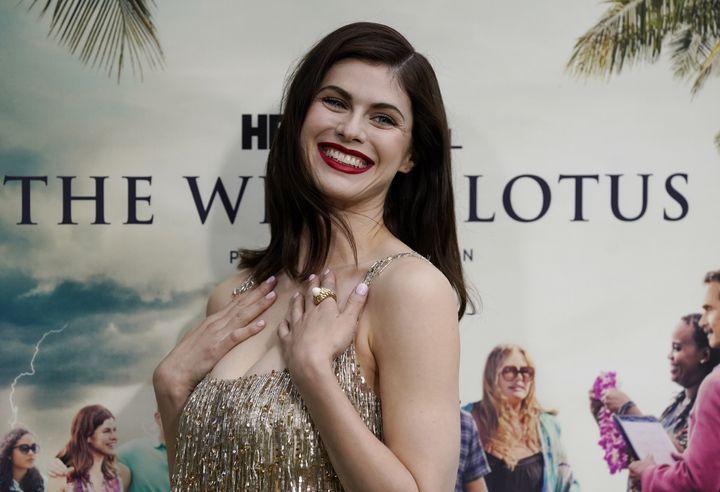 Alexandra Daddario, una de las protagonistas de 'The White Lotus'.