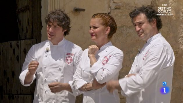 Jordi Cruz, Samantha Vallejo-Nágera y Pepe Rodríguez, en 'MasterChef