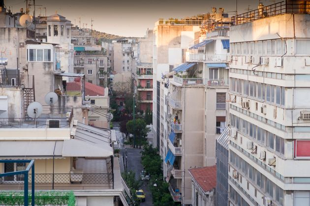Athens, Greece - Apartment Building Or Block Of Flats Or