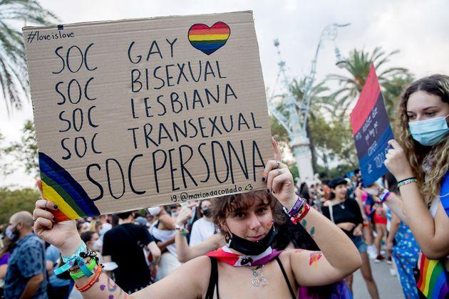 Manifestación del Orgullo en Barcelona, el pasado 5 de