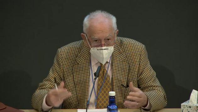 Joseba Arregi, durante una conferencia, en noviembre
