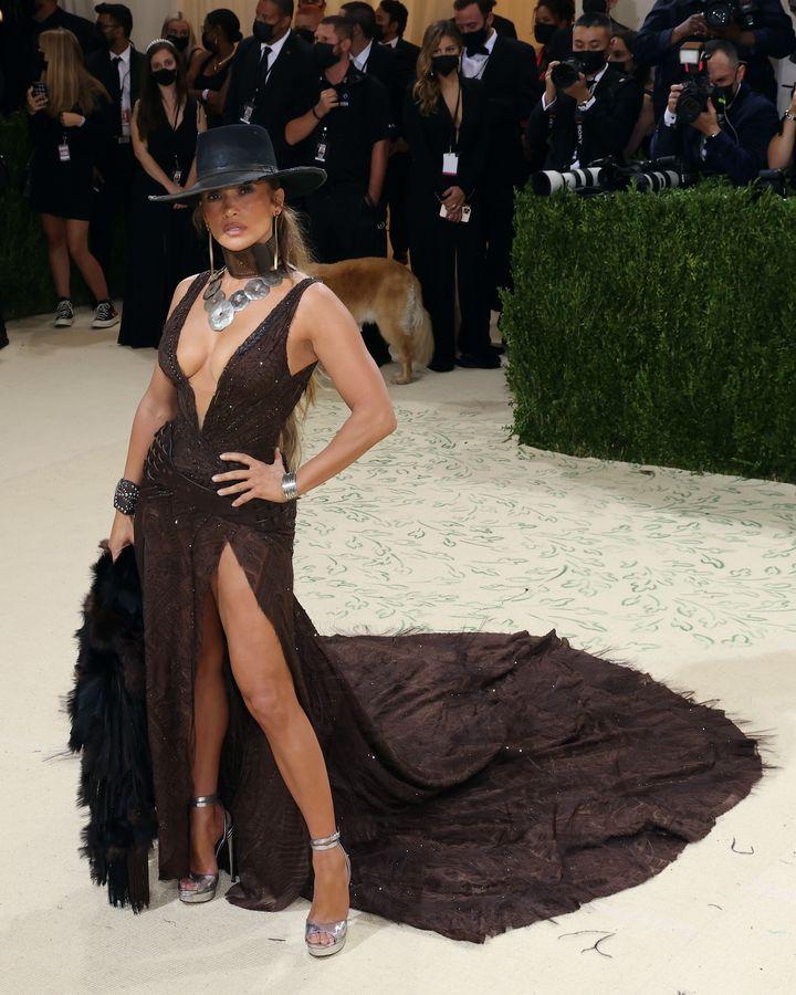 Jennifer Lopez en la gala Met 2021, 'America: A Lexicon Of Fashion'.