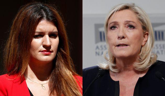 Marlène Schiappa et Marine Le Pen (montage