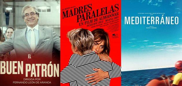 Carteles de 'El buen patrón', 'Madres paralelas' y 'Mediterráneo' preseleccionadas para los
