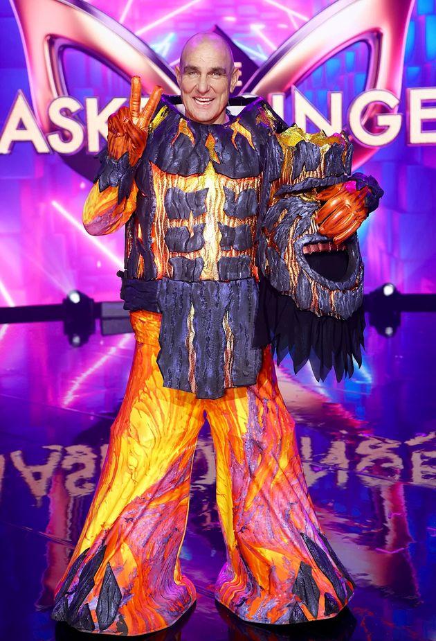 Vinnie Jones on the set of The Masked Singer